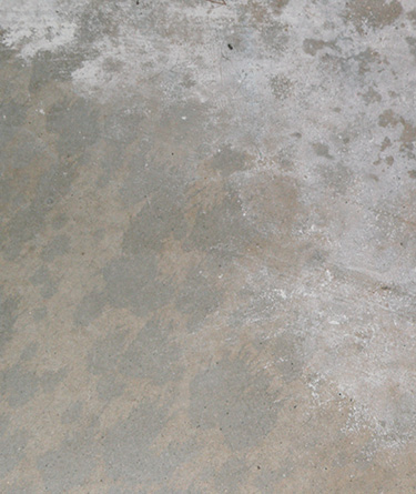 Even the presence of efflorescence doesn't point to a current moisture issue, as the efflorescence may have occurred previously and the slab may no longer have excessive moisture