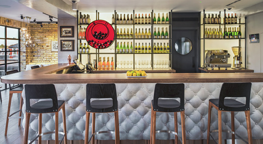 gfrc concrete mix upholstered bar