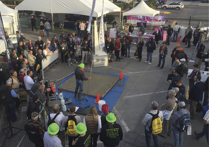 decorative concrete live sandbox crowd