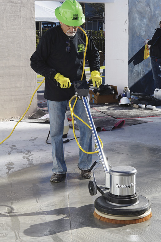 Julio Hallack staining and sealing concrete