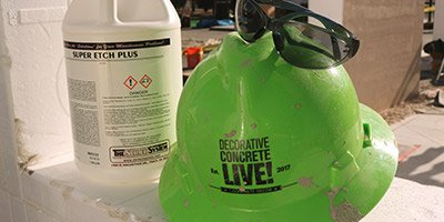 decorative concrete live hard hat and super etch plus
