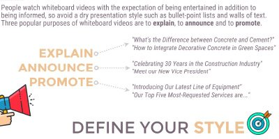 White Board Video infographic, marketing & business development for the concrete contractor.