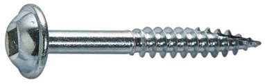 A pocket-hole screw used when fabricating molds for concrete
