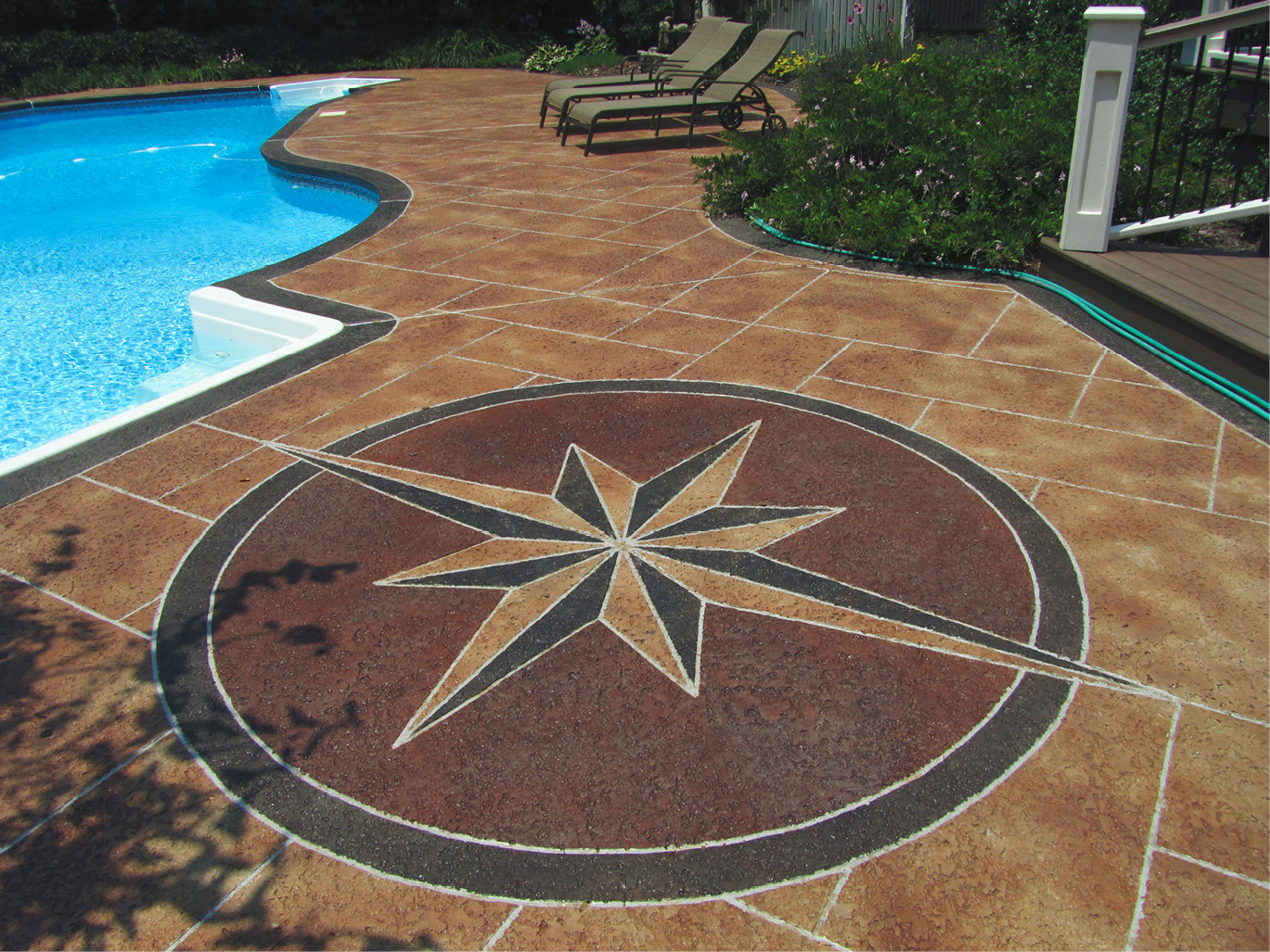 Step By Step Lesson To Drawing A Compass Rose Concrete Decor