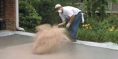 OSHA standards for silica dust protection has changed and not all concrete contractors will be effected. - Photo from Concrete Decor archives