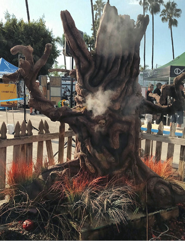 Halloween-themed display that netted him first place in the 2016 Concrete Decor Show in San Diego