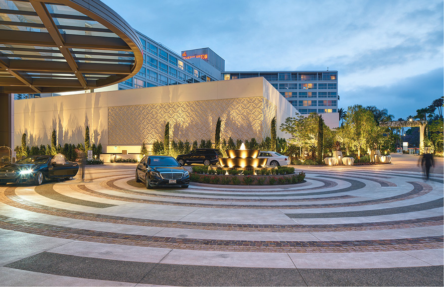 When it comes to delivering difficult designs — like this circular plaza that highlights the entrance to the Waldorf Astoria Beverly Hills — you've got to have a plan.