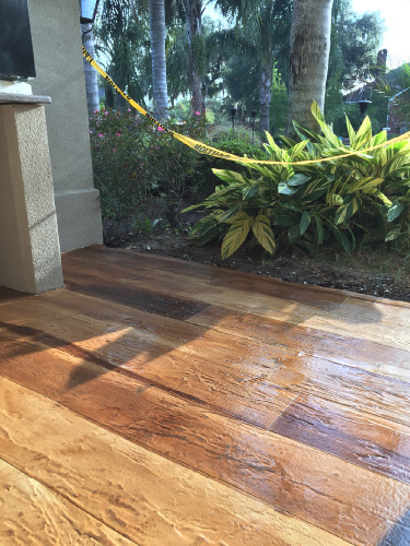 """People got tired of the acid stains somewhat and the wood floors are the latest and the greatest. I think they're beautiful. They have longevity and they're only going to get more popular."""