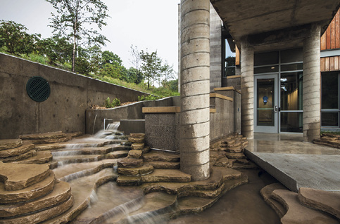 Second Place for an amazing low-rise concrete structure: Frick Environmental Center in Pittsburgh, Pennsylvania