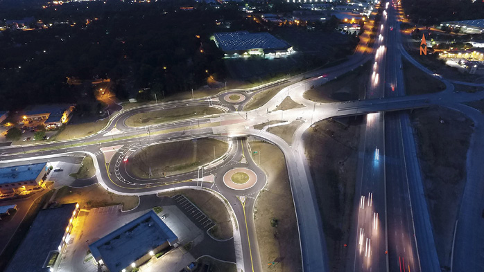 The first design-build project awarded by the Kansas Department of Transportation, the $288 million Johnson County Gateway project was built in one of the most congested stretches of interstate in Kansas.