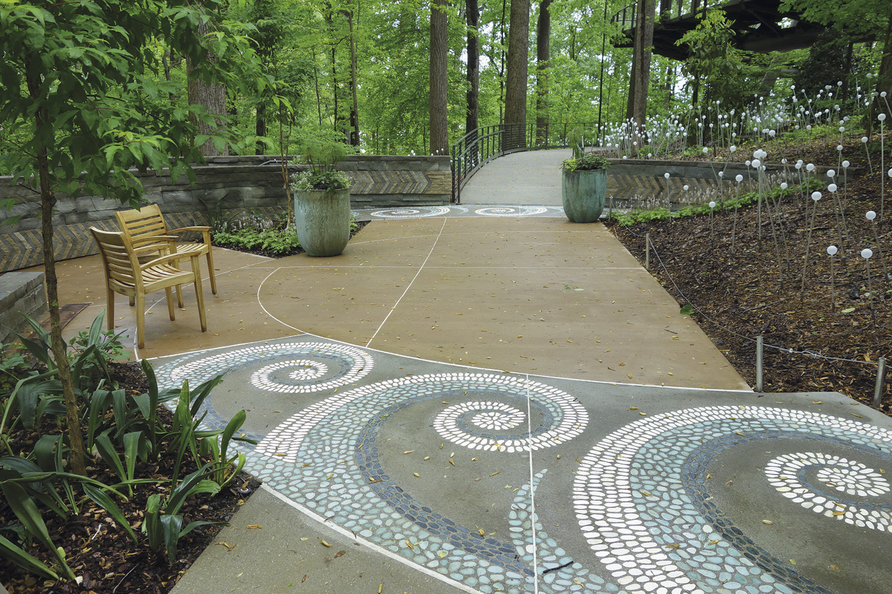 T.B. Penick & Sons, San Diego, California, won the best overall project WOW! Award for the Atlanta Botanical Garden.