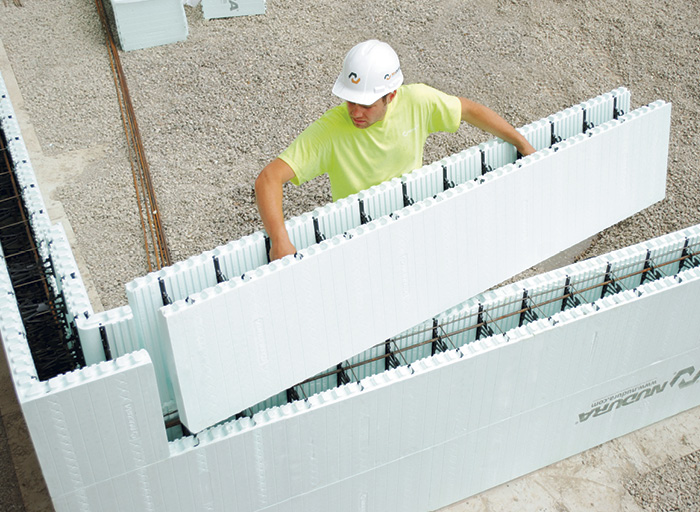 According to ICF manufacturers, insulated concrete form construction combines several wall-assembly components in one unit: Concrete, steel reinforcement, insulation, air barrier and vapor barrier.