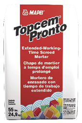 The company also debuted Topcem Pronto, a screedable mortar with more than 60 minutes of working time