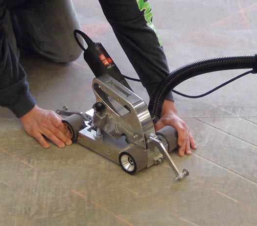 Concrete engraving requires a blade that operates at low horsepower because the goal is to carefully wear away the surface of the concrete rather than make a deep cut.