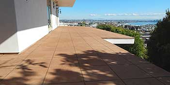 Building owners are asking contractors around the country to create decorative outdoor concrete features on areas not normally associated with concrete surfaces such as decks and roofs.