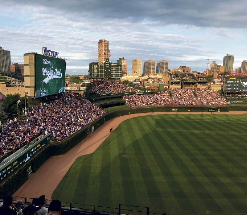The group also visited Wrigley Field to watch the Cubs vs. the Arizona Diamondbacks.