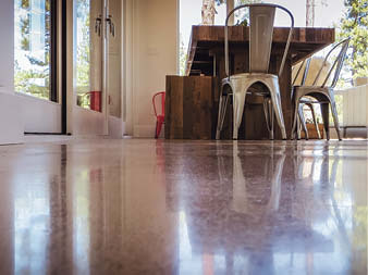 Using a product such as First Cut reduces labor and tooling costs for polished floors.