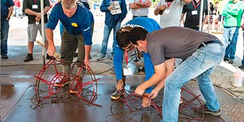 training course at the Solomon decorative concrete fair