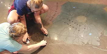 To commemorate a colony that contributed much to Texas, the Texas Historical Commission had a museum built that uses decorative concrete to capture history.