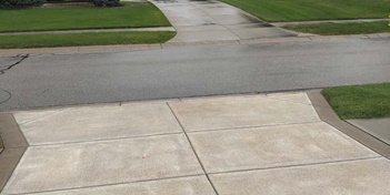 Sealed concrete driveway by Stephens Concrete