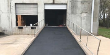 Shipping and receiving ramp with a fresh look