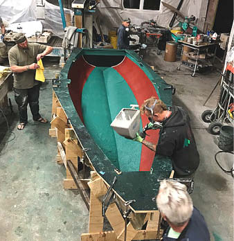 About 20 people gathered together Sept. 27-30 in Manchester, California, a town about three hours north of San Francisco, for the third annual Mendo Mini Campout and Boat Build.