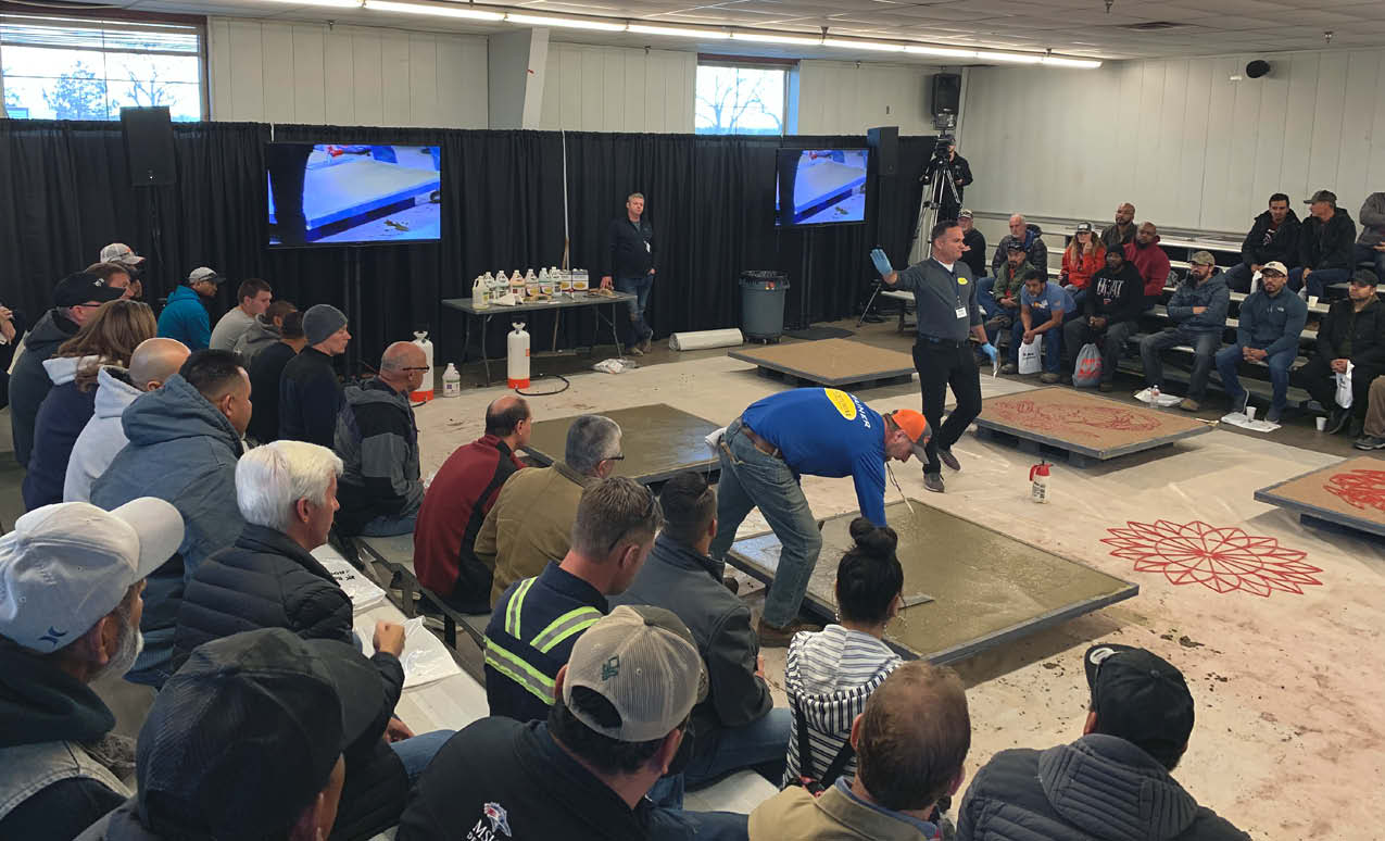 Demonstrations, such as this one held last December at the Colorado Concrete Expo sponsored by Bobcat of the Rockies, are delivered by trained professionals under controlled conditions.