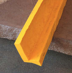Stone Faced 2-Inch Cantilevered Step Liner designed for cast concrete stairs.