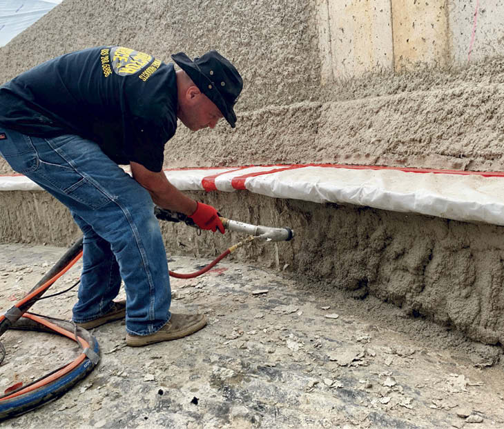 Using a Graco pump to apply vertical concrete quickly