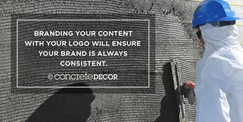 Pictures on instagram should be branded with logos to ensure that brand is always consistent.