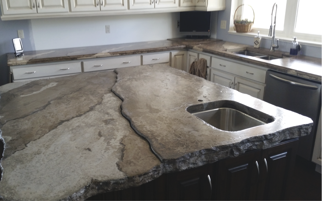 Bilevel Concrete Countertops By Ben Ashby Decor