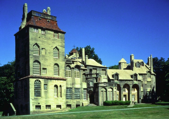 Mercer Castle was the first of many concrete castles created by Henry Mercer