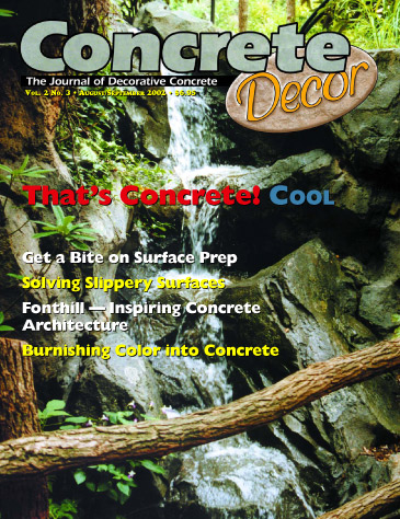 Concrete Decor - Vol. 2 No. 3 - August/September 2002