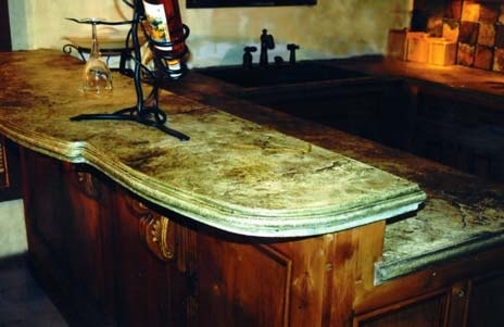 In Many Remodeling Rustic Stained And Sealed Concrete Countertops For That  One Of A Kind Look In Your Kitchen