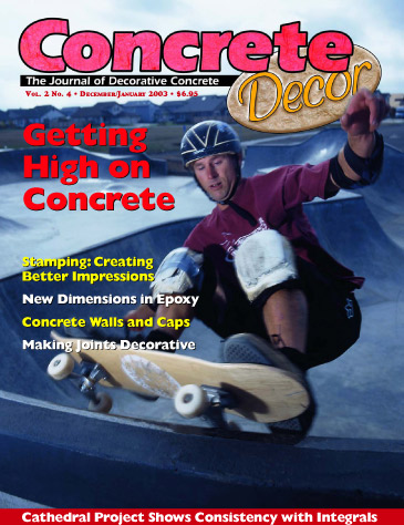 Concrete Decor - Vol. 2 No. 4 - December/January 2003