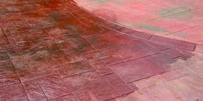 How to maintain a stamped concrete patio with new sealer.