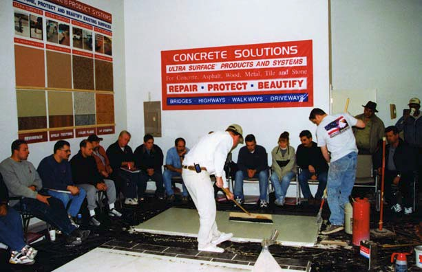 Concrete Solutions trains a packed house on how to best use their concrete products