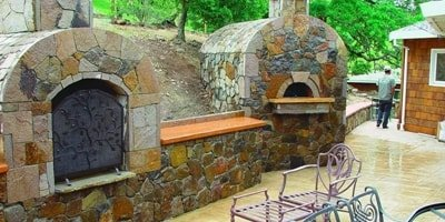 Outdoor cooking made easy and beautiful with this concrete stove.