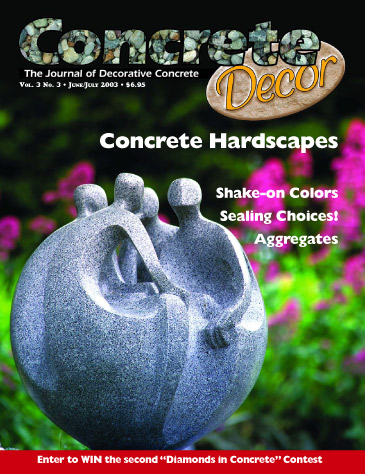 Concrete Decor - Vol. 3 No. 3 - June/July 2003