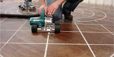 The Mongoose Engraver in action on a concrete floor