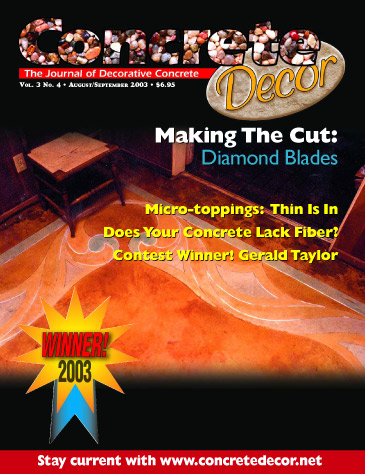 Concrete Decor - Vol. 3 No. 4 - August/September 2003