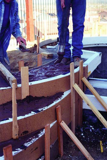 Stegmeier Corp. makes a variety of decking forms for gunite, fiberglass and vinyl-liner swimming pools.