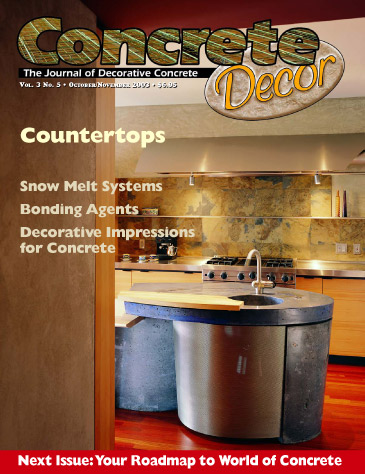 Concrete Decor - Vol. 3 No. 5 - October/ November 2003