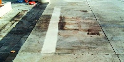 Cleaning dirty concrete is easy following these easy steps. Bring that concrete slab back to looking new.