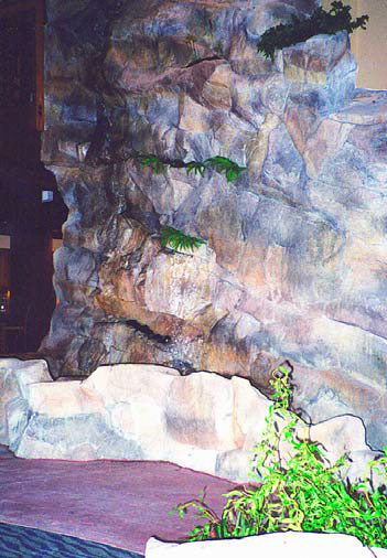 Adding color to faux rocks creates an element of natural stone.