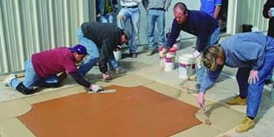 Hands-on training has proven to be an effective way for newcomers in the decorative concrete industry to learn from the experienced contractors