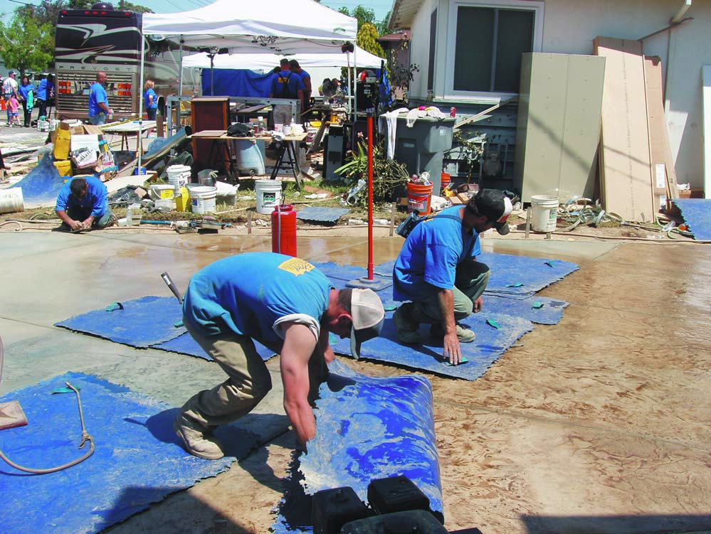Decorative concrete has been an integral part of the hit show Extreme Makeover: Home Edition. And QC Construction Products were featured in this episode.