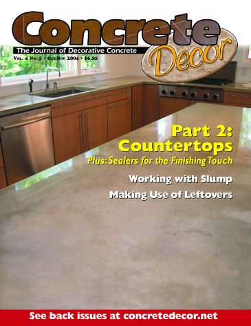 Concrete Decor - Vol. 4 No. 5 - October/November 2004