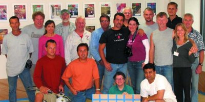 Colormaker workshop in Eugene, Oregon, group photo of class.
