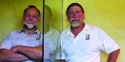 George Lacker (right) owner of GLC3 Concrete and Geoff Kemp, senior project manager.